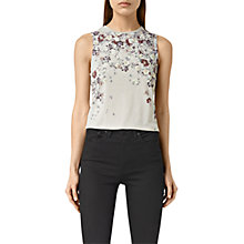 Buy AllSaints Cluster Eli Tank Top, Stone Grey Online at johnlewis.com