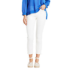 Buy Mint Velvet Harrison Cropped Jeans, White Online at johnlewis.com