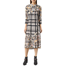 Buy AllSaints Volta Kinori Dress, Light Grey Online at johnlewis.com