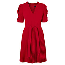 Buy Karen Millen 24HR Crepe Dress, Red Online at johnlewis.com