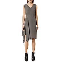 Buy AllSaints Vista Dress, Slate Grey Online at johnlewis.com