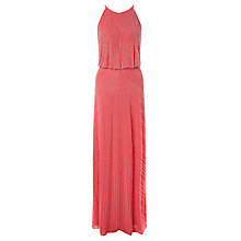 Buy Aidan Mattox Sleeveless Blouson Beaded Gown, Sherbert Online at johnlewis.com