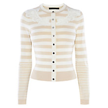 Buy Karen Millen Compact Stretch Knits Cardigan, Neutral Online at johnlewis.com