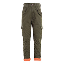 Buy John Lewis Boys' Cargo Lined Trousers, Khaki Online at johnlewis.com