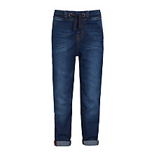 Buy John Lewis Boys' Denim Jersey Joggers, Blue Online at johnlewis.com