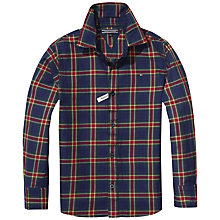 Buy Tommy Hilfiger Boys' Heritage Check Shirt, Navy/Multi Online at johnlewis.com