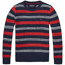 Buy Tommy Hilfiger Boys' Darrel Jumper, Navy Online at johnlewis.com