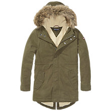 Buy Tommy Hilfiger Boys' Jimmy Parka Coat, Olive Online at johnlewis.com