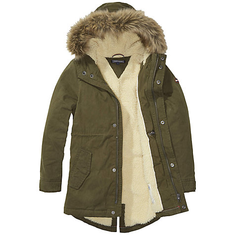 buy tommy hilfiger boys 39 jimmy parka coat olive online at johnlewis. Black Bedroom Furniture Sets. Home Design Ideas