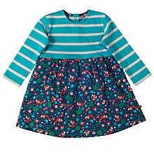 Buy Frugi Organic Baby Floral Stripe Dress, Multi Online at johnlewis.com