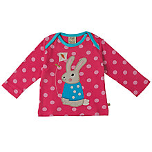 Buy Frugi Organic Baby Rabbit Spot Top, Pink Online at johnlewis.com