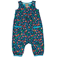 Buy Frugi Organic Baby Bus Dungarees, Navy Online at johnlewis.com