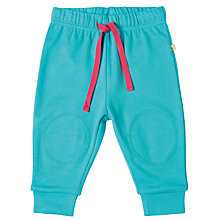 Buy Frugi Organic Baby Kneepatch Trousers, Blue Online at johnlewis.com