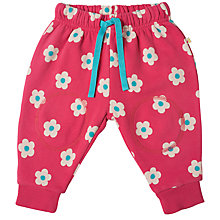 Buy Frugi Organic Baby Floral Snuggle Crawler Trousers, Pink/Multi Online at johnlewis.com