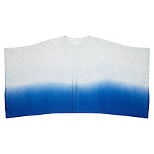 Buy Jigsaw Girls' Ombre Dip Dye Poncho, Blue Online at johnlewis.com