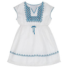 Buy Jigsaw Girls' Embroidered Kaftan Dress, White Online at johnlewis.com