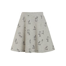 Buy John Lewis Girls' Jersey Rabbit Print Skirt, Grey Online at johnlewis.com