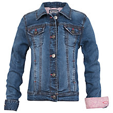 Buy Fat Face Girls' Cara Denim Jacket, Blue Online at johnlewis.com