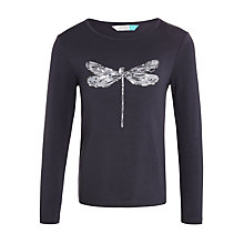 Buy John Lewis Girls' Dragonfly T-Shirt, Washed Black Online at johnlewis.com