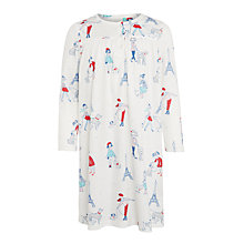 Buy John Lewis Girls' Paris Dog Print Nightdress, White Online at johnlewis.com