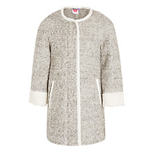 Buy John Lewis Girls' Coatigan, Grey Online at johnlewis.com