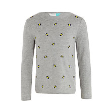 Buy John Lewis Girls' Bumble Bee Print T-Shirt, Grey Online at johnlewis.com