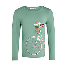 Buy John Lewis Girls' Bicycle Print T-Shirt, Green Online at johnlewis.com