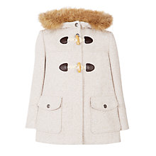 Buy John Lewis Girls' Tweed Duffel Coat, Stone Online at johnlewis.com