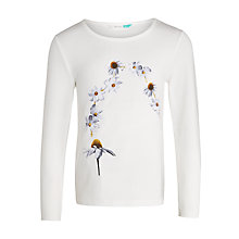 Buy John Lewis Girls' Daisy Chain T-Shirt, White Online at johnlewis.com