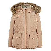 Buy John Lewis Girls' Short Jacket, Latte Online at johnlewis.com
