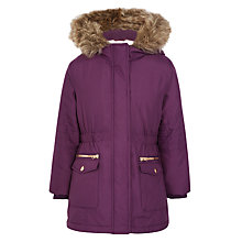 Buy John Lewis Girls' Parka Coat, Purple Online at johnlewis.com
