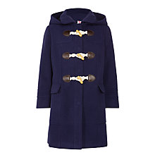 Buy John Lewis Girls' Duffle Coat, Peacoat Online at johnlewis.com