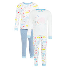 Buy John Lewis Girls' Secret Garden Pyjamas, Pack of 2, Multi Online at johnlewis.com