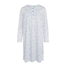 Buy John Lewis Girls' Vintage Bird Print Nightdress, Blue/White Online at johnlewis.com