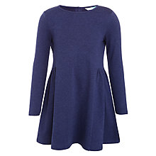 Buy John Lewis Girls' Jersey Skater Dress, Navy Online at johnlewis.com