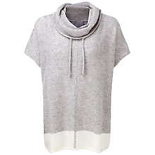 Buy Pure Collection Mabley Gassato Cashmere Textured Poncho, Heather Dove/Soft White Online at johnlewis.com