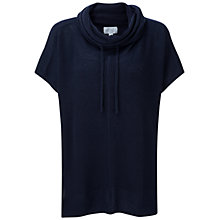 Buy Pure Collection Wetherby Gassato Poncho, Navy Online at johnlewis.com