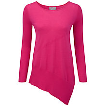 Buy Pure Collection Lairdale Featherweight Cashmere Seamed Sweater, Summer Pink Online at johnlewis.com