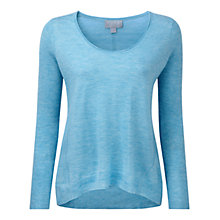 Buy Pure Collection Elia Featherweight Cashmere Relaxed Sweater, Silver Teal Online at johnlewis.com