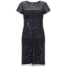 Buy Adrianna Papell Short Sleeve Beaded Cocktail Dress, Navy Online at johnlewis.com