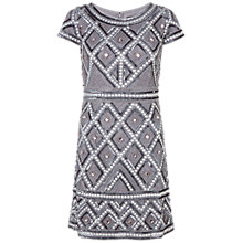 Buy Adrianna Papell Cap Sleeve Beaded Cocktail Dress, Silver/Grey Online at johnlewis.com