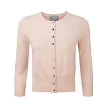 Buy Pure Collection Padbury Cashmere Crop Cardigan, Pink Whisper Online at johnlewis.com