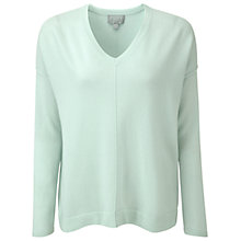 Buy Pure Collection Canterbury Cashmere V Neck Sweater, Opal Online at johnlewis.com
