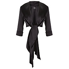 Buy Adrianna Papell Stretch Charm Wrap Shawl, Black Online at johnlewis.com