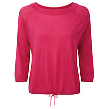 Buy Pure Collection Featherweight Cashmere Tie Hem Sweater, Summer Pink Online at johnlewis.com