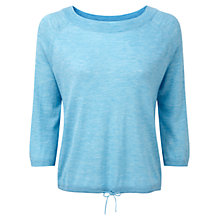 Buy Pure Collection Gaspar Featherweight Cashmere Tie Hem Sweater, Silver Teal Online at johnlewis.com