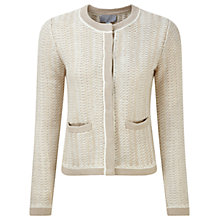 Buy Pure Collection Regency Cotton Textured Jacket, White/Almond Online at johnlewis.com