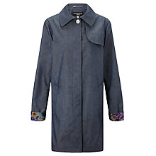 Buy Four Seasons Single Breasted Coat, Denim Online at johnlewis.com