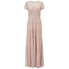 Buy Adrianna Papell Short Sleeve Beaded Gown, Shell Online at johnlewis.com