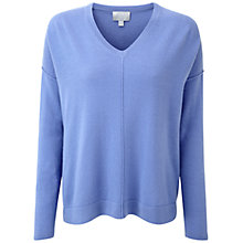 Buy Pure Collection Iris Tamerton Cashmere Sweater, Blue Iris Online at johnlewis.com